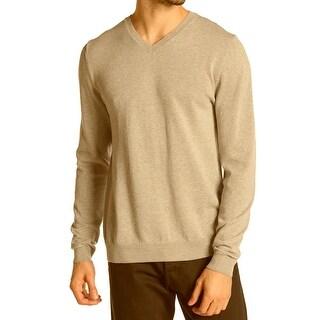 Wallin & Bros. NEW Beige Mens Size Medium M Pullover V-Neck Sweater
