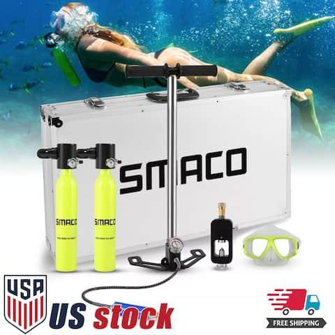 SMACO Oxygen Cylinder Mini Scuba Diving Equipment Air Tank Oxygen Tank Set Kit
