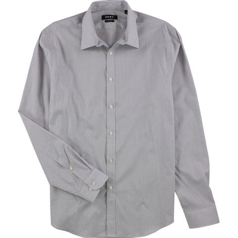 Dkny Mens Stretch Button Up Dress Shirt