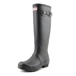 Hunter Original Tall Women  Round Toe Synthetic Black Rain Boot