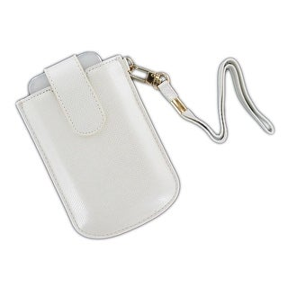 OEM Verizon Universal Vertical Leather Pouch with Strap for iPhone 5, iPhone 4S,