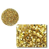 """Lavish Gold Fully Sequined & Beaded Christmas Ball Ornament 3.5"""" (90mm)"""