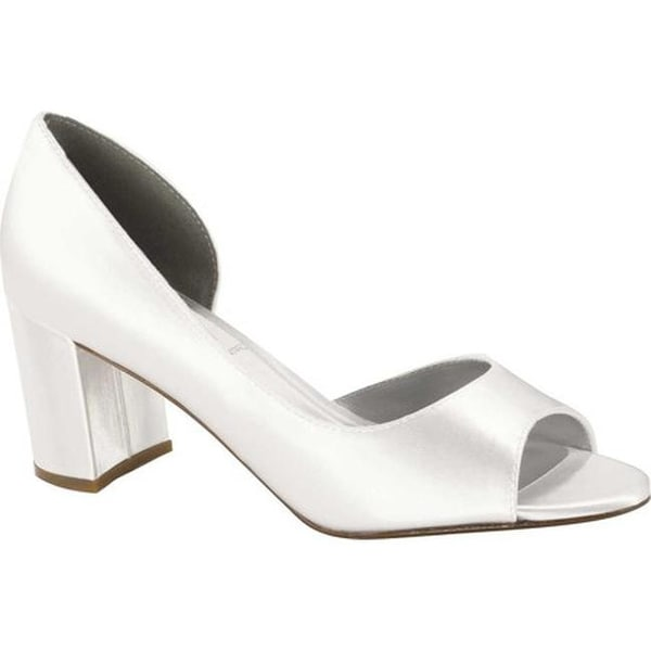 c98e51f9938 Shop Dyeables Women s Joy D Orsay Pump White Satin - Free Shipping Today -  Overstock - 27413576