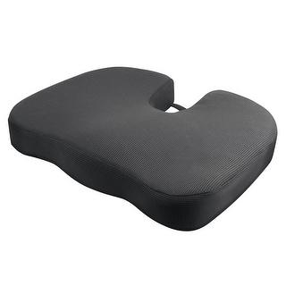 RelaxFusion Coccyx Cushion - High Density Memory Foam Chair Pad