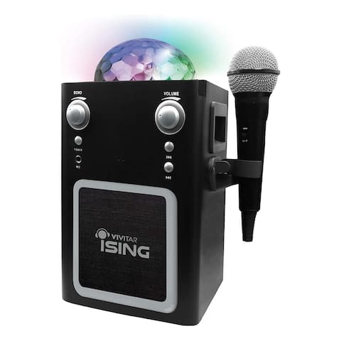 Vvitar iSING Bluetooth Disco Ball Karaoke With Mic