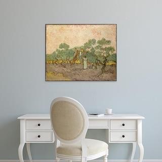 Easy Art Prints 's 'Olive Pickers' Premium Canvas Art