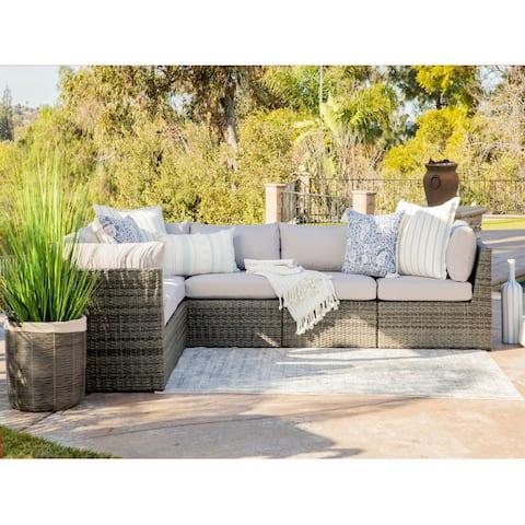 Tatiana Rattan 6-piece Gray Sectional Outdoor Patio Set