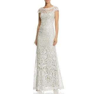 Tadashi Shoji Womens Petites Evening Dress Gown Sleeveless