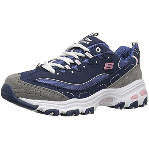 d29ea481b16f Shop Skechers Sport Women s D lites Memory Foam Lace-Up  Sneaker