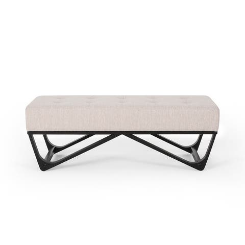 Assisi Contemporary Fabric Ottoman Bench by Christopher Knight Home