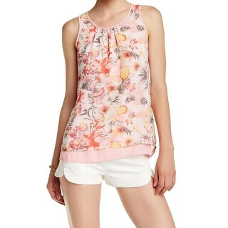 Daniel Rainn NEW Pink Women's Size Small S Floral Print Blouse