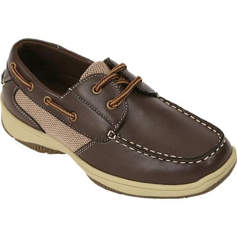 Deer Stags Boys' Jay Boat Shoe Dark Brown