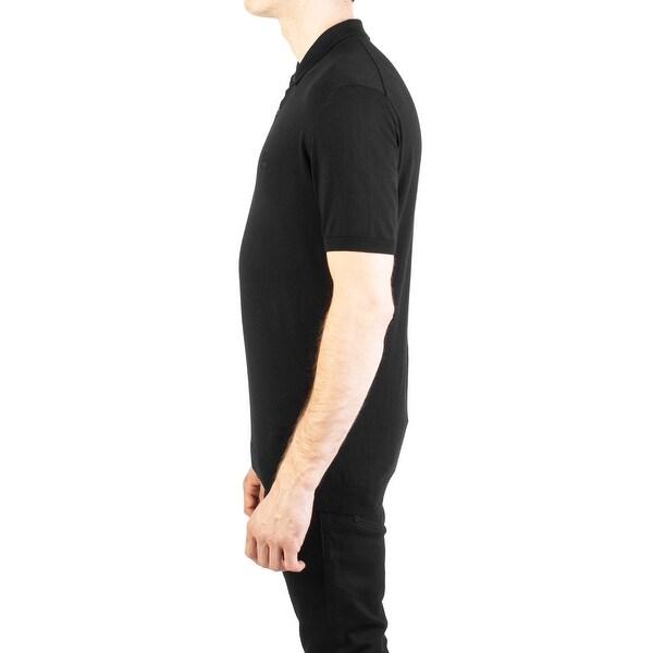 Roberto Cavalli Men/'s Cotton Embroidered Polo Shirt Black