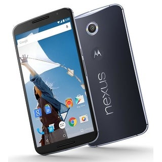 Motorola Nexus 6 XT1103 64GB Unlocked GSM Quad-Core Android Phone w/ 13MP Camera (Certified Refurbished)