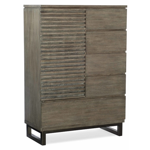 """Hooker Furniture 5760-90011 38"""" Wide 5 Drawer Rubberwood Dresser from the Annex Collection - Ceruse Gray Oak"""