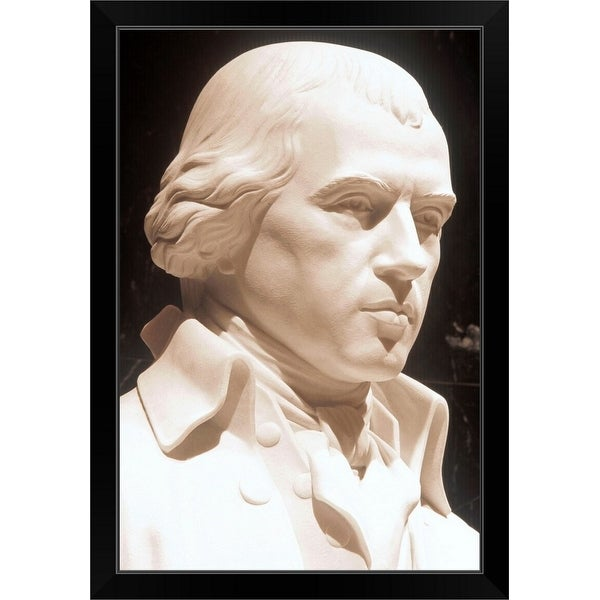 """Statue of James Madison, Library of Congress, USA"" Black Framed Print"