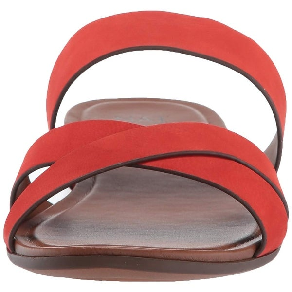 Naturalizer Womens Treasure Leather Open Toe Beach Slide Sandals. Opens flyout.