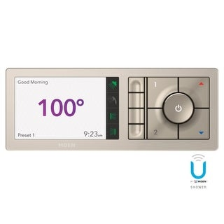 """Moen TS3304 U by Moen Digital Shower Controller- 4 Outlet trim pad with 3/4"""" Connections and Wifi Technology"""