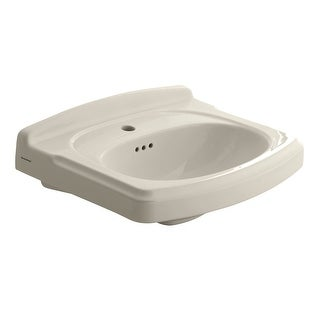 """American Standard 0555.001  Portsmouth Pedestal Sink Only with Single Faucet Hole, 24-3/8"""" Length and Overflow"""