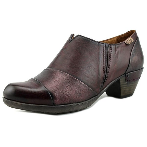 Pikolinos 902-5645 Women Round Toe Leather Burgundy Ankle Boot