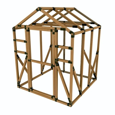 Shop 6X6 E-Z Frame Greenhouse or Storage Shed Kit - Black - 6\'x6 ...