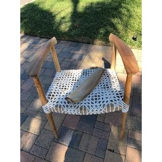 "Safavieh Bandelier Light Oak Arm Chair - 25.2"" x 20.9"" x 30.9"""
