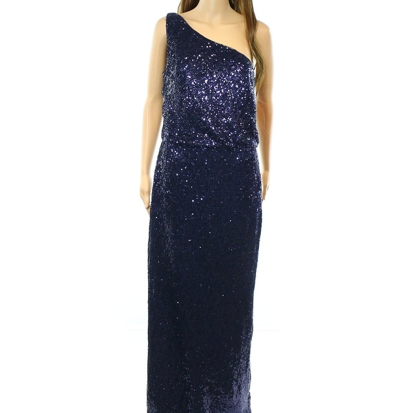 feb59397b52 Shop Lauren Ralph Lauren NEW Blue Women s Size 12 Sequin Slit Maxi ...