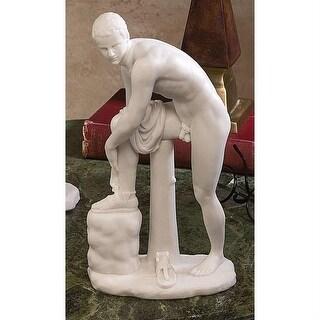 Design Toscano Hermes Fastening his Sandal Bonded Marble Statue