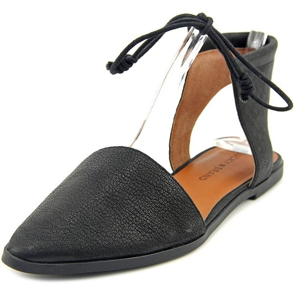 Lucky Brand Mabonnee Women Pointed Toe Leather Black Flats