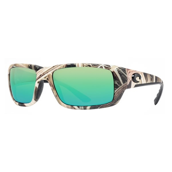 53c76364aa7 Costa Del Mar Fantail TF65OGMP Mossy Oak Camo 580P Green Mirror Wrap  Sunglasses - mossy oak