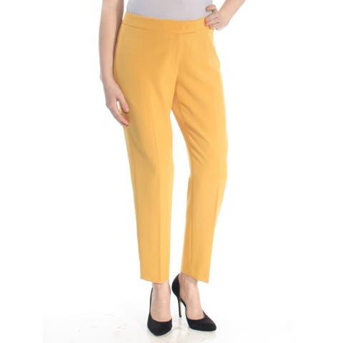 ANNE KLEIN Womens Yellow Straight leg Wear To Work Pants Plus Size: 18W