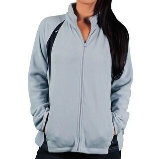 Ladies Vantek Microfiber/Mesh Blocked Jacket