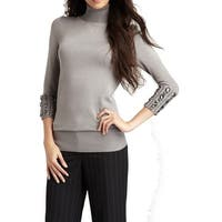 Vertigo NEW Gray Women's Size Small S Embellished Turtleneck Sweater