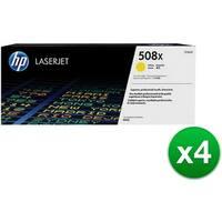 HP 508X High Yield Yellow Original LaserJet Toner Cartridge (CF362X)(4-Pack)