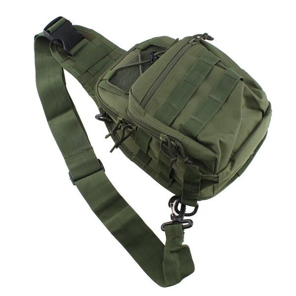 AGPtEK Outdoor Tactical Shoulder Backpack Military & Sport Bag Pack Daypack for Camping Hiking Trekking Sling Green