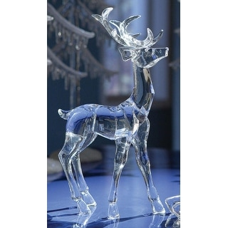 Pack of 4 Icy Crystal Decorative Christmas Standing Deer Figurines 11.6
