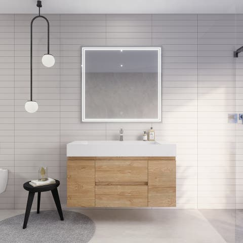 Better Monterey 48'' Wall-Mounted Vanity with Reinforced Acrylic Sink