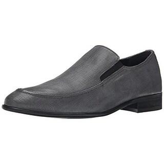 Calvin Klein Mens Varro Leather Round Toe Loafers - 12 medium (d)