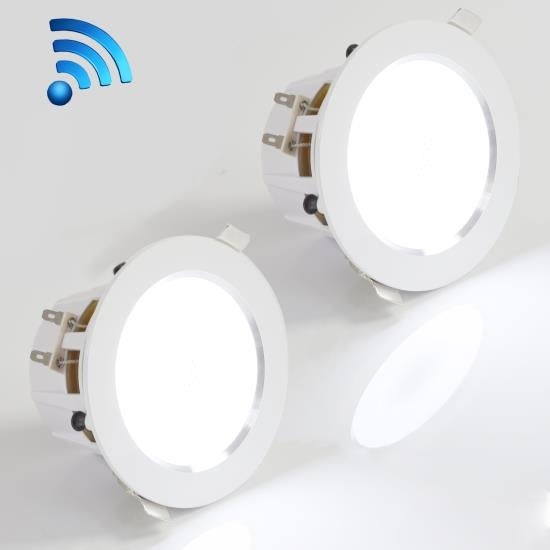 3.5'' Bluetooth Ceiling / Wall Speaker Kit, 2-Way Aluminum Frame Speakers with Built-in LED Light