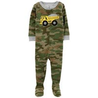 Carters Boys 12-24 Months Truck Camo Sleeper - Green - 12 Months