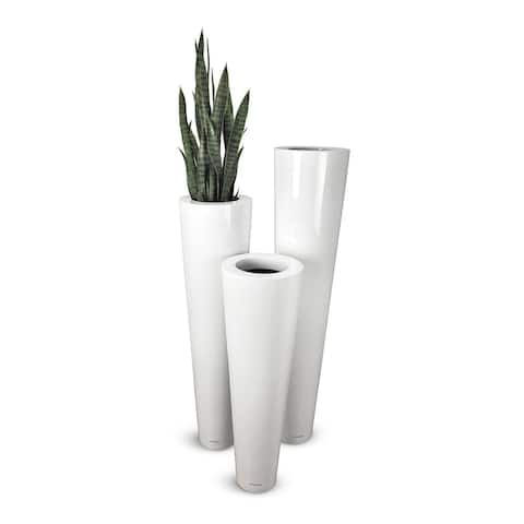 Lux Box Fiberglass Flower Pot 30 X 100 Cm White