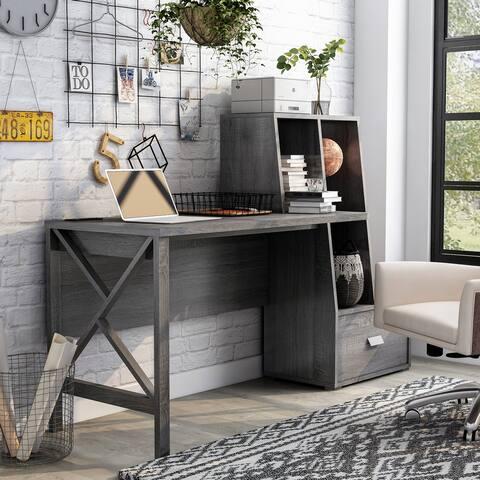 Furniture of America Jessica Modern Desk with USB Port