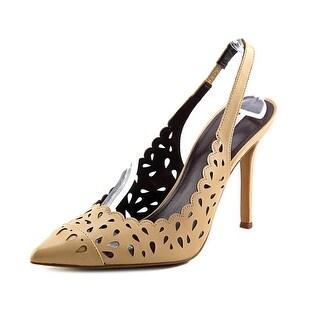 BCBGeneration Talyn Women Pointed Toe Synthetic Tan Slingback Heel