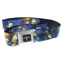 Walt Disney Seatbelt Belt - Kingdom Hearts Main Characters-Holds Pants Up