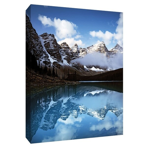 """PTM Images 9-148687 PTM Canvas Collection 10"""" x 8"""" - """"Valley of Ten Peaks"""" Giclee Forests and Mountains Art Print on Canvas"""