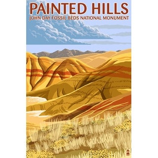 John Day Fossil Beds, Oregon - Painted Hills - Lantern Press Artwork (Acrylic Serving Tray)