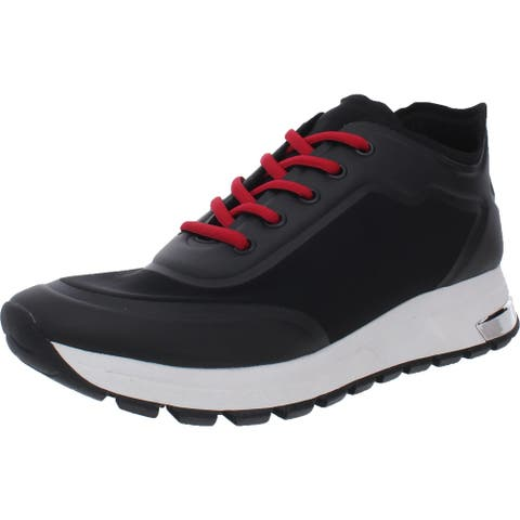 DKNY Womens Lace Up Sneakers Fitness Workout - Black