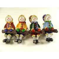 Club Pack of 48 Sitting Snowman With Ski's Table Top Figures 5""