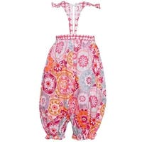Bonnie Jean Baby Girls Fuchsia Paisley Pattern T-Strap Back Romper