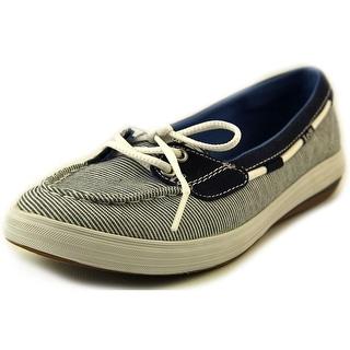 Keds Glimmer Boat Women  Moc Toe Canvas Blue Boat Shoe